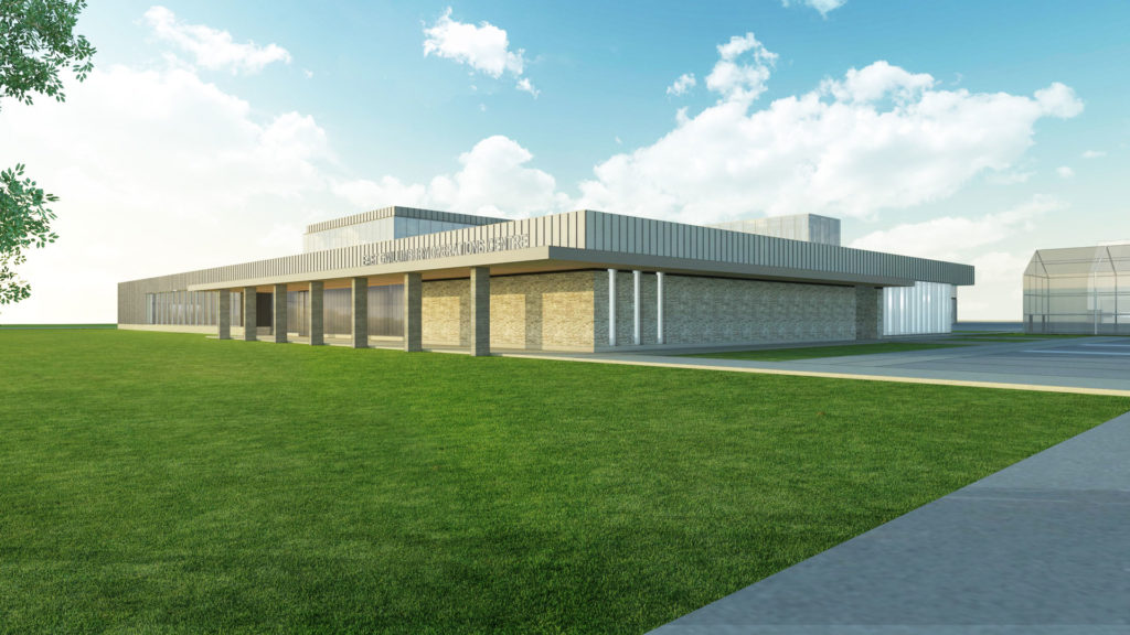 Exterior rendering of the facility