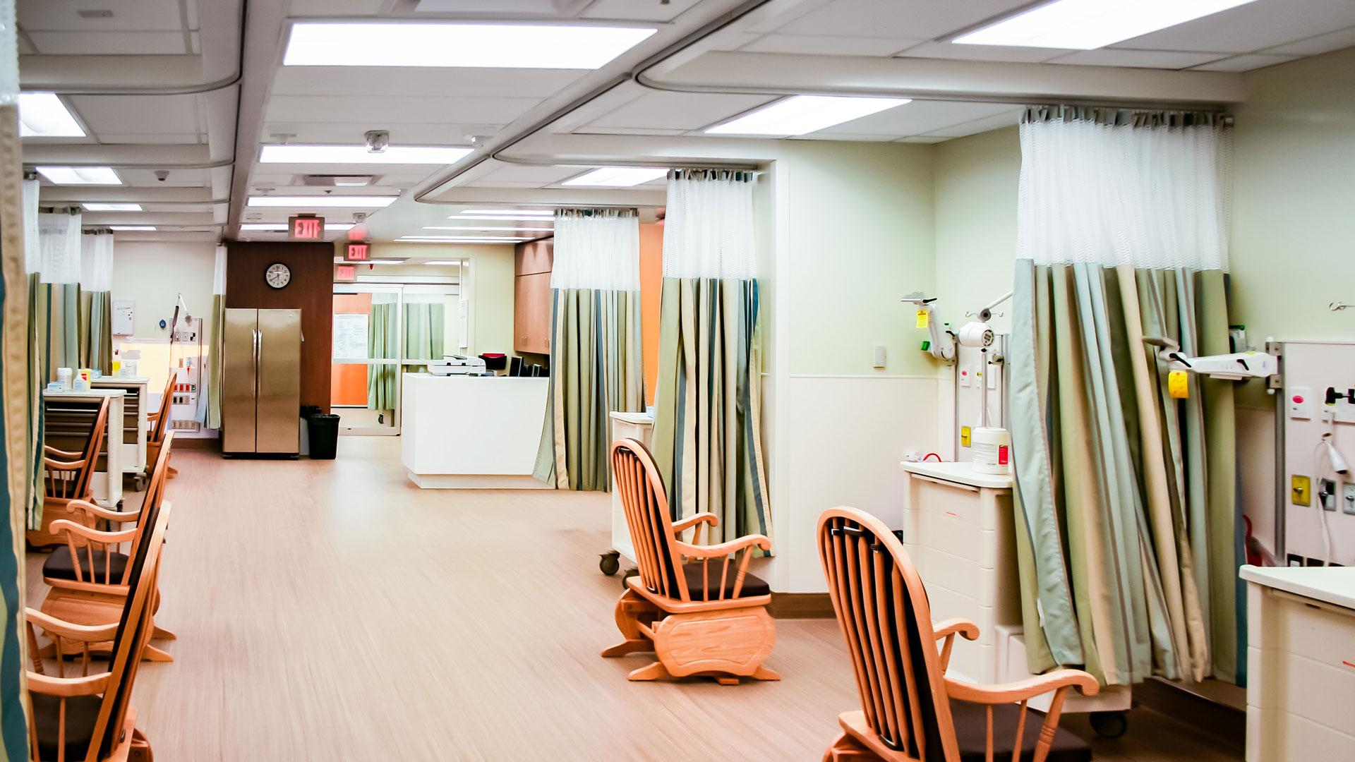 Interior photo of the NICU department