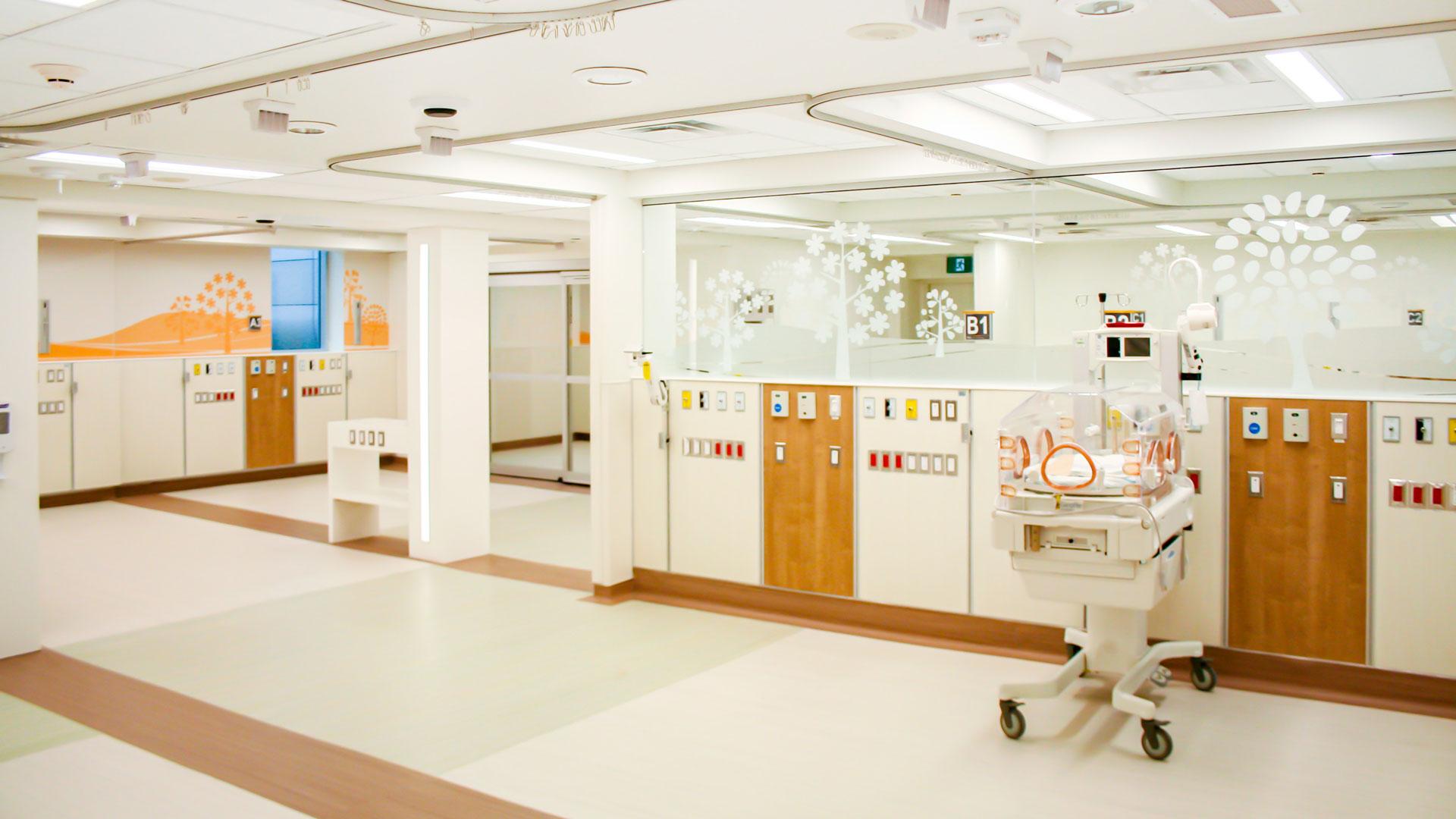 Interior photo of the NICU